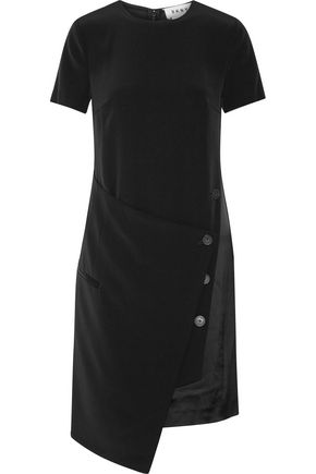 DKNY Wrap-effect faille dress