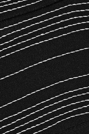 MUGLER Embroidered stretch-cady dress