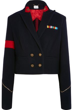 MAGDA BUTRYM Bonn cropped wool and cashmere-blend blazer