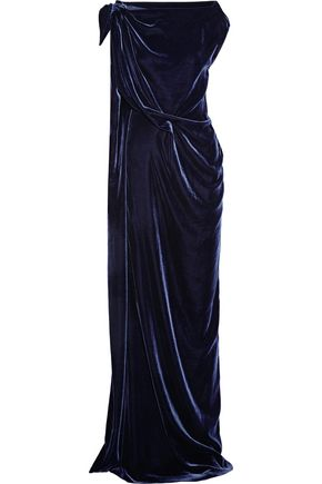 ROLAND MOURET Silvabella draped velvet gown