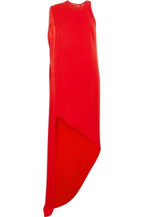 RONALD VAN DER KEMP Cape-effect crepe gown