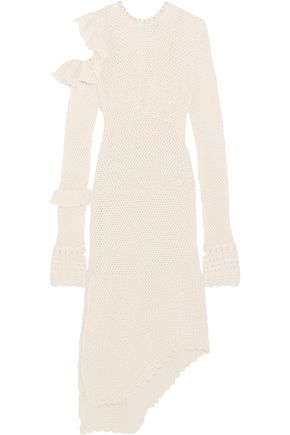 MAGDA BUTRYM Concordia cutout crocheted cotton-blend dress