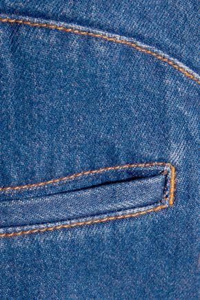 KÉJI Paneled denim shorts