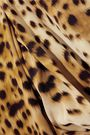 RONALD VAN DER KEMP Cheetah-print silk mini dress