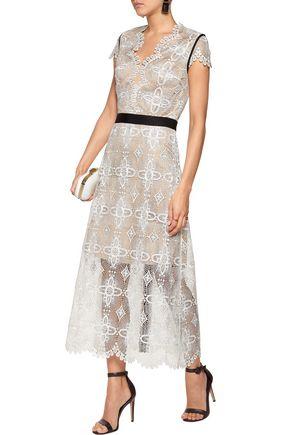 CATHERINE DEANE Garland guipure lace midi dress