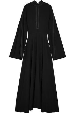 BEAUFILLE Odas cutout piqué maxi dress