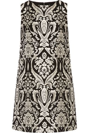 ALICE + OLIVIA Clyde jacquard mini dress