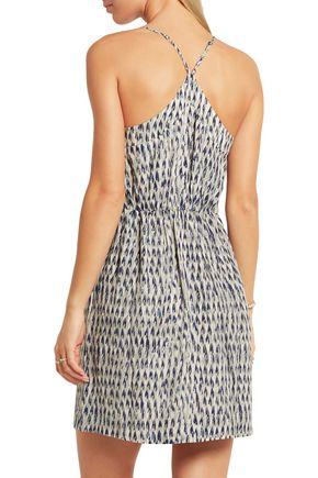 MADEWELL Sunlight printed silk mini dress
