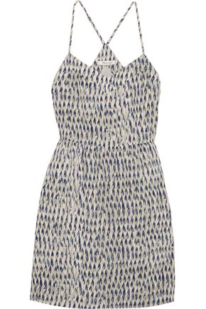MADEWELL Sunlight printed silk mini dress