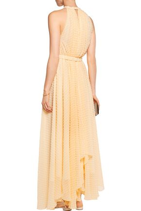 SALONI Irina Swiss-dot chiffon maxi dress