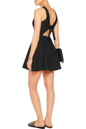ELIZABETH AND JAMES Britt cutout twill mini dress