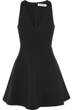 ELIZABETH AND JAMES Lalita flared twill mini dress