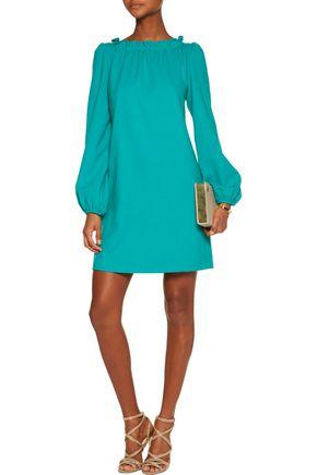 GOAT Ruffled wool-crepe mini dress
