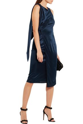 ATLEIN Open-back satin-jersey dress