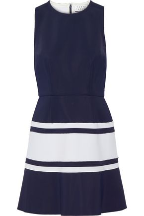 TANYA TAYLOR Lora two-tone scuba mini dress
