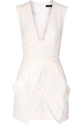 ISABEL MARANT Imba layered linen-blend mini dress