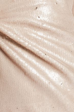 HALSTON HERITAGE Sequined stretch-crepe gown