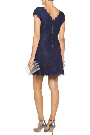 DIANE VON FURSTENBERG Brittany corded lace mini dress