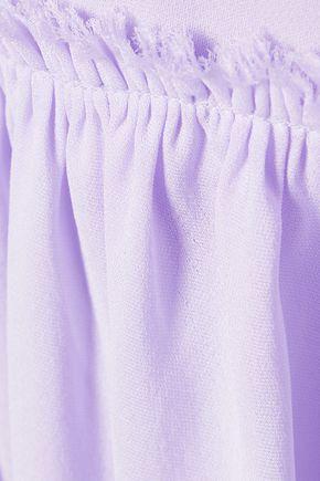 ELIZABETH AND JAMES Carlita silk-crepe mini dress