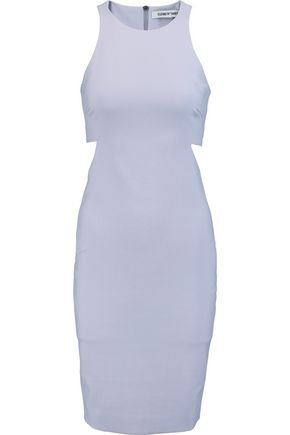 ELIZABETH AND JAMES Lela cutout stretch-cady dress