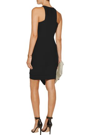 ELIZABETH AND JAMES New Claire asymmetric stretch-jersey mini dress