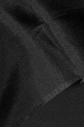 CUSHNIE ET OCHS Olivia cutout silk-organza and stretch-knit midi dress