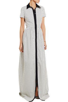 OSCAR DE LA RENTA Floral-print cotton-poplin maxi dress