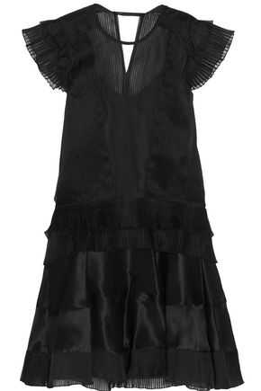 ISABEL MARANT Vila plissé silk-blend organza mini dress
