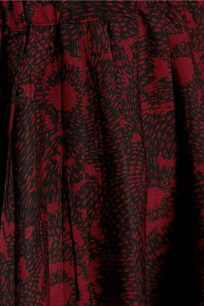 W118 by WALTER BAKER Kristen pleated printed crepe mini dress