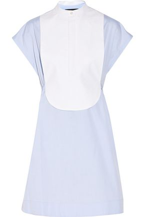 ALEXANDER WANG Layered cotton-poplin mini dress