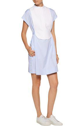 ALEXANDER WANG Layered cotton-poplin mini dress