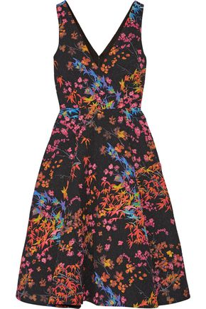 SALONI Jess printed cloqué dress