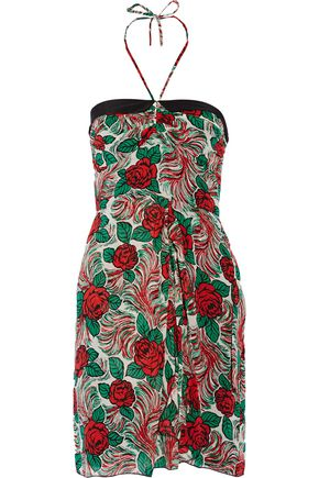 ANNA SUI Printed silk-chiffon mini dress