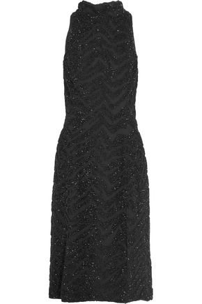 TOPSHOP UNIQUE Lorne crystal-embellished silk-georgette midi dress