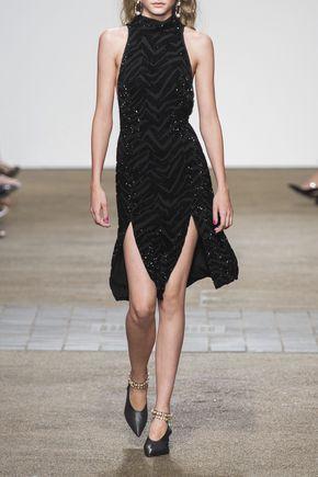 TOPSHOP UNIQUE Lorne crystal-embellished silk-georgette midi dress