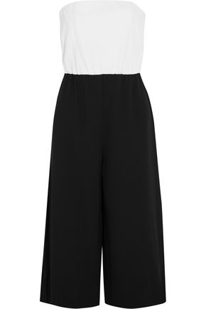 ALICE + OLIVIA Lucie cropped crepe jumpsuit