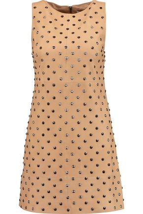 ALICE + OLIVIA Clyde studded suede mini dress