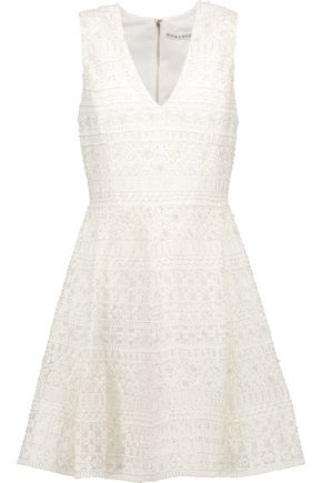 ALICE + OLIVIA Reba embellished tulle mini dress