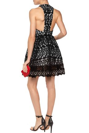 ALICE + OLIVIA Mariel guipure lace mini dress