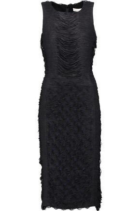 JONATHAN SIMKHAI Fringed jersey dress