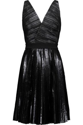 PROENZA SCHOULER Paneled coated seersucker and crepe dress