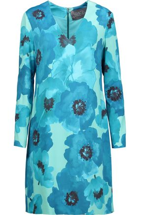 LELA ROSE Floral-print stretch-crepe dress