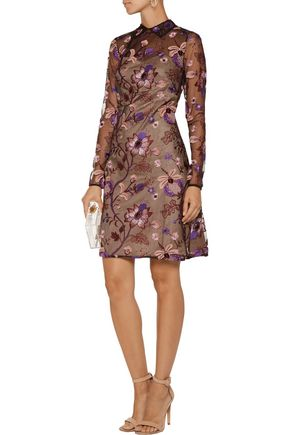 MIKAEL AGHAL Embellished tulle mini dress