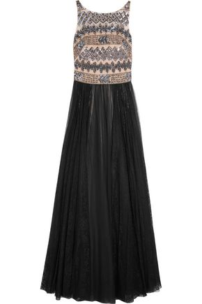MIKAEL AGHAL Embellished tulle gown