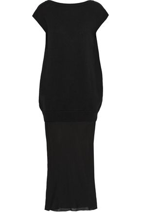 T by ALEXANDER WANG Cotton and silk-crepe maxi dress