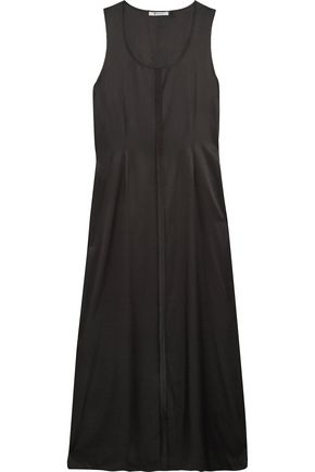 T by ALEXANDER WANG Silk-blend satin maxi dress