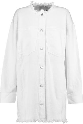 T by ALEXANDER WANG Frayed cotton-twill jacket