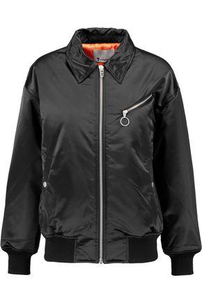 T by ALEXANDER WANG Satin shell bomber jacket