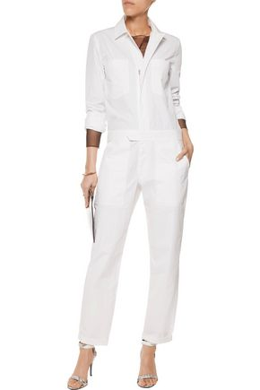 T by ALEXANDER WANG Cotton-blend jumpsuit