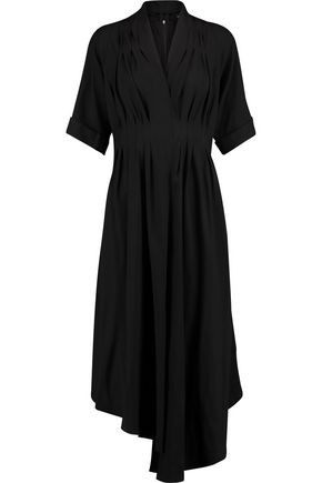 ADAM LIPPES Gathered crepe midi dress
